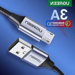 Ugreen Usb 2.0 A To Micro B Cable Charger Short Flexible Fas