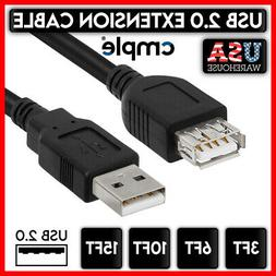 USB 2.0 Extension Extender Cable Cord M/F Standard Type A Ma