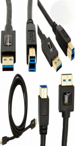 AmazonBasics USB 3.0 Cable - A-Male to B-Male - 9 Feet