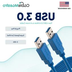 USB 3.0 Extender Extension Cable Cord Type A Male to A Male