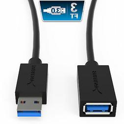 Sabrent USB 3.0 Extension Cable - A-Male to A-Female  3 Feet