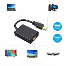 USB 3.0 to HDMI Adapter Cable Male to Female Video 1080P PC