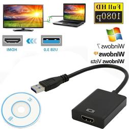 USB 3.0 to HDMI Audio Video Adaptor Converter Cable for Wind