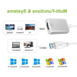 USB 3.0 To HDMI Video Audio Adaptor Converter Cable For Wind