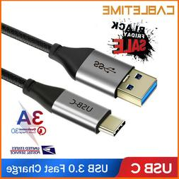 Cabletime USB 3.0 Type C Cable 3A USB C Fast Charging Data C
