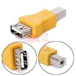 HDE USB Type A Female to USB Type B Male Adapter for Printer