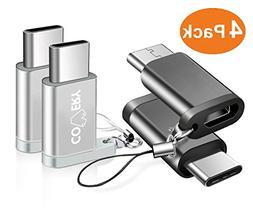 Covery USB C Adapter, 4 Pack Micro USB to USB C Convert Conn