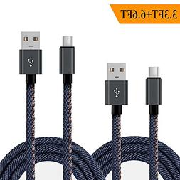USB Type C Cable, Long USB C Cable Quick Charging Cord, USB