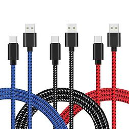 USB Type C Cable, AOKER   Nylon Braided  USB A to USB C Char