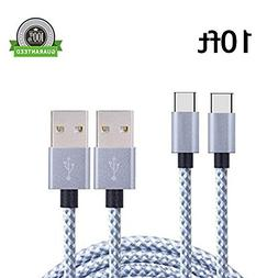 USB Type C Cable, Asstar USB C to USB A  Long Nylon Braided