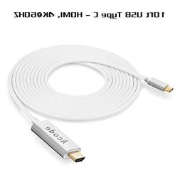 USB C to HDMI Cable, Acode 4K@60Hz 10ft USB Type C to HDMI A