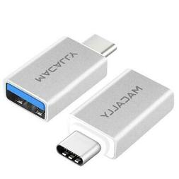 MACALLY PERIPHERALS USB-C to USB-A Adapter Mouse Keyboard US