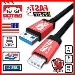 USB-C Cable Type-C 3.1 Fast Charging Data Sync Charger Samsu