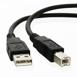 25ft USB Cable for: HP PSC 2175 Multifunction Printer - Blac