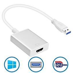 Lankot USB to HDMI Adapter, USB 3.0 to HDMI 1080P Video Mult