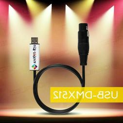 Usb To Dmx Interface Adapter Dmx512 Studio Computer Pc Stage